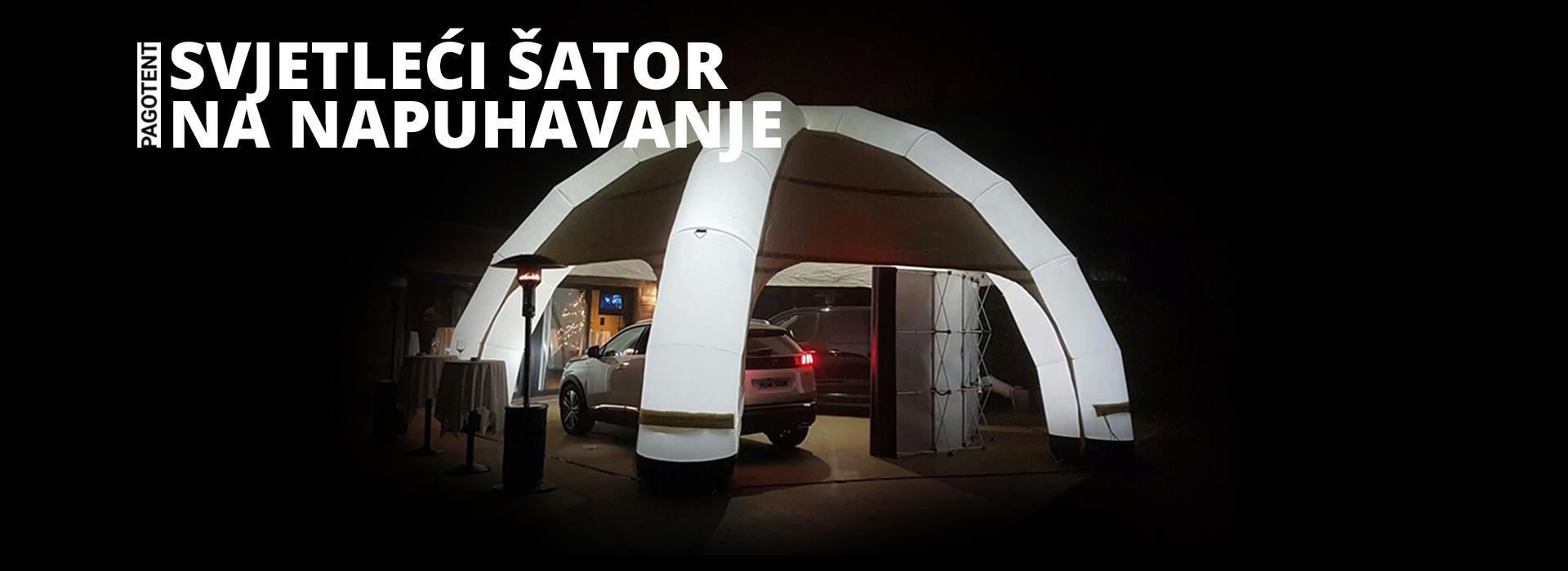 Svjetleći šator na napuhavanje